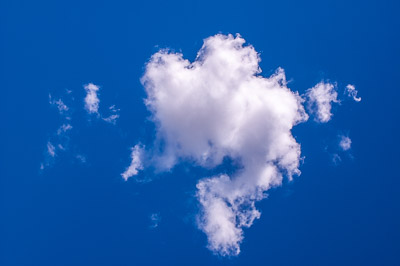 White cloud in a blue sky
