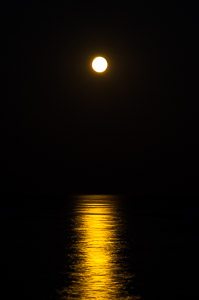 Moon reflection on sea