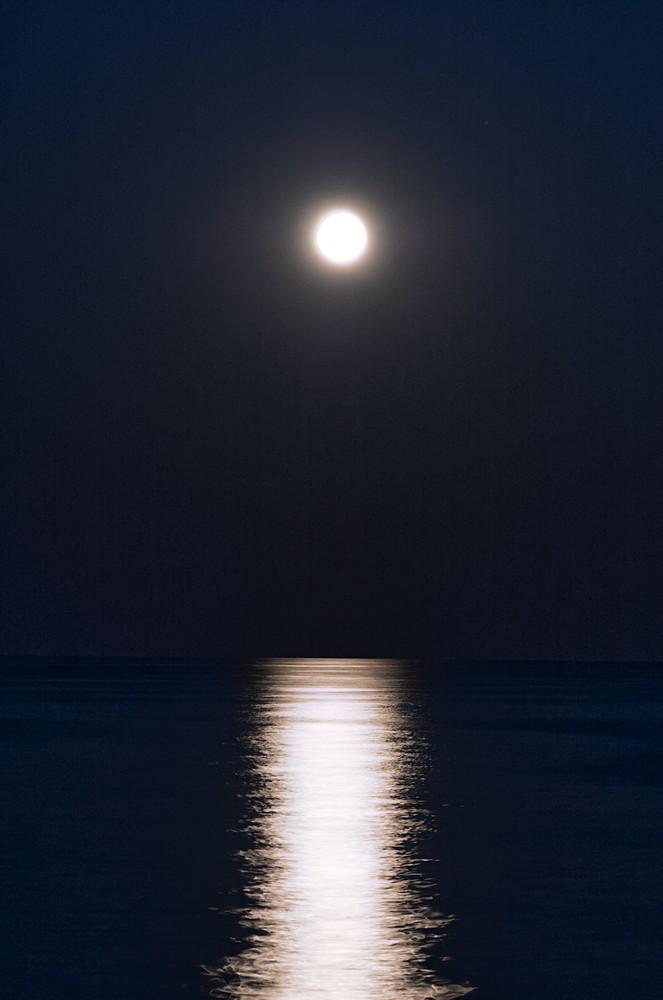 Moon reflection on sea
