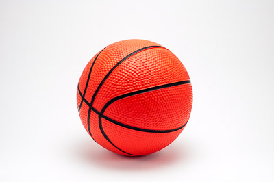 Toy basketball ball