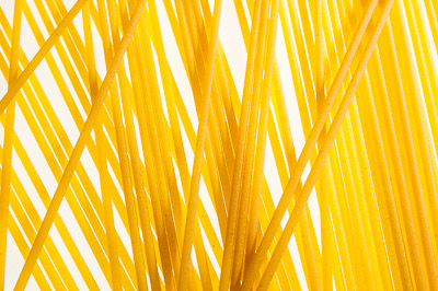 Spaghetti pasta, isolated on white