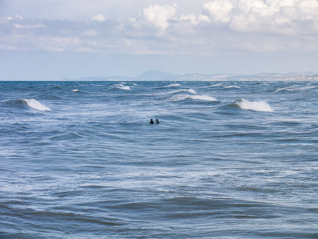 Surfers in Senigallia
