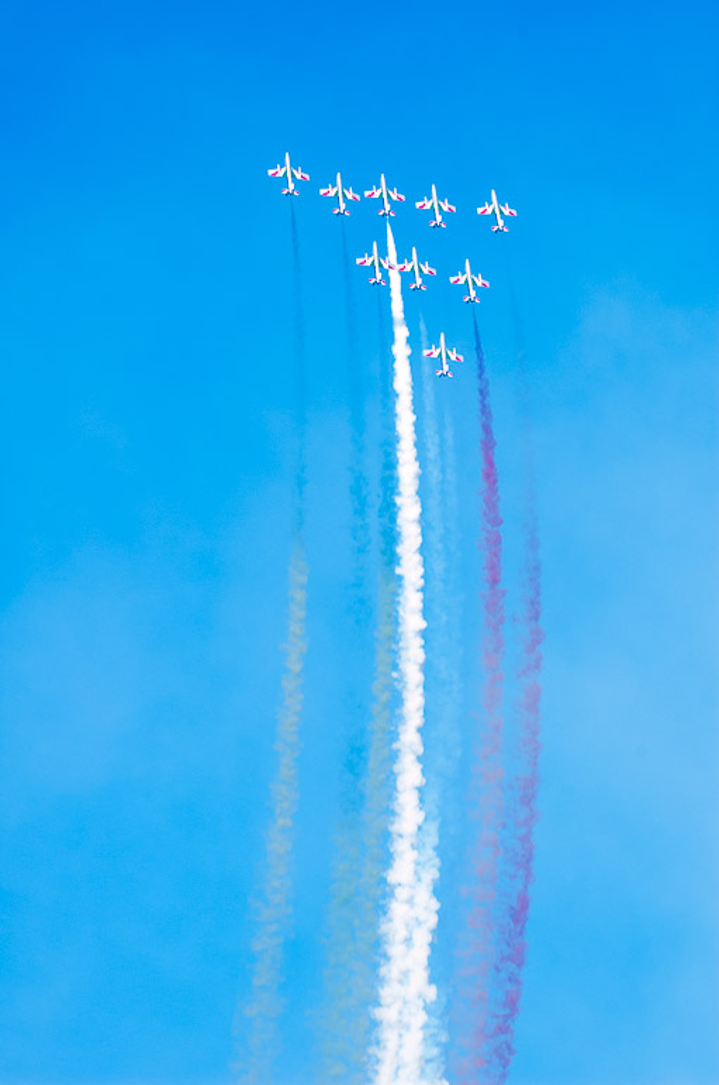 Aerobatics in Senigallia
