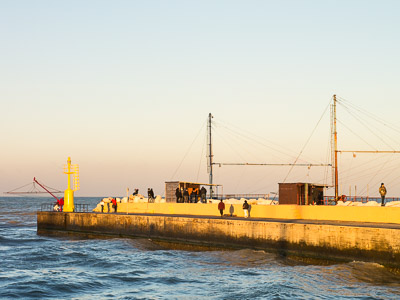 Golden hour in Senigallia harbor