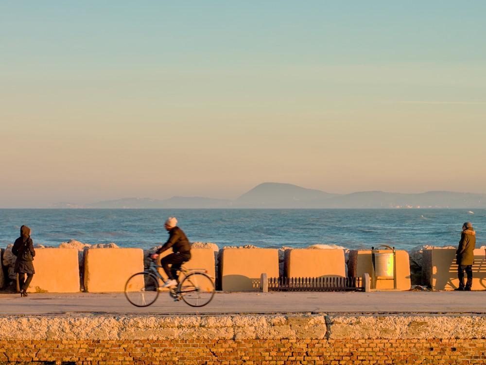 Cycling at the harbor