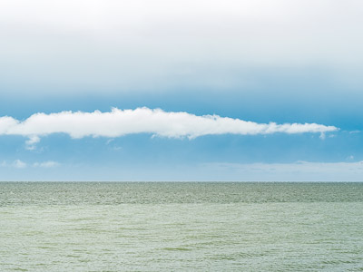Seascape with a cloud