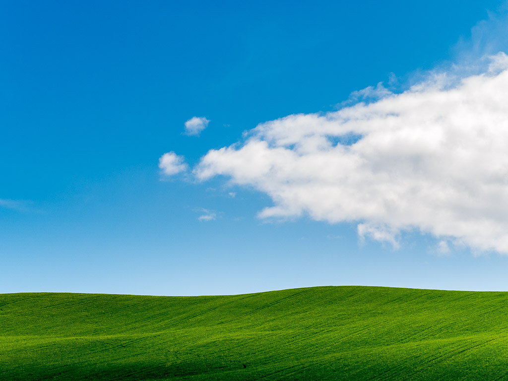 Cloud on the green hill