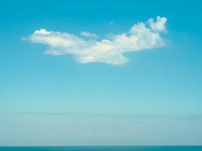 Seascape and a cloud