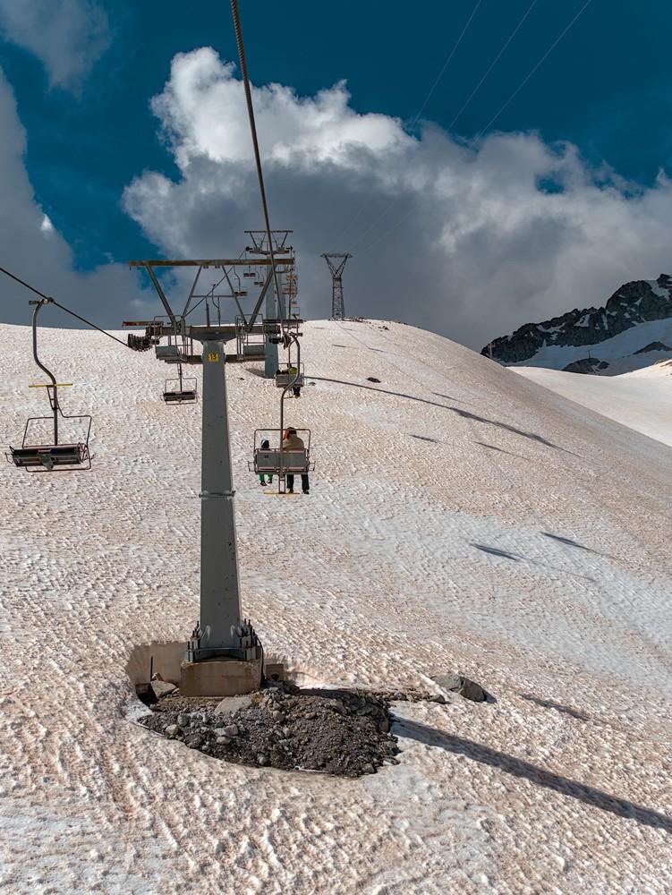 Presena glacier and mountains in summer