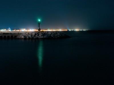 Senigallia Harbor, at Night