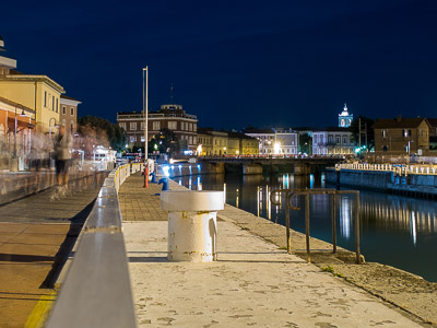 Senigallia Harbor, at Night