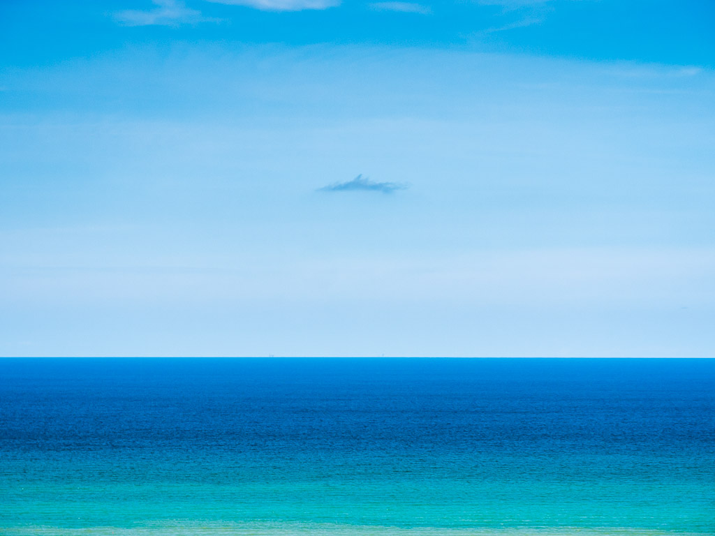 Seascape with a small cloud
