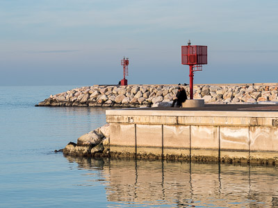 Senigallia harbor entrance