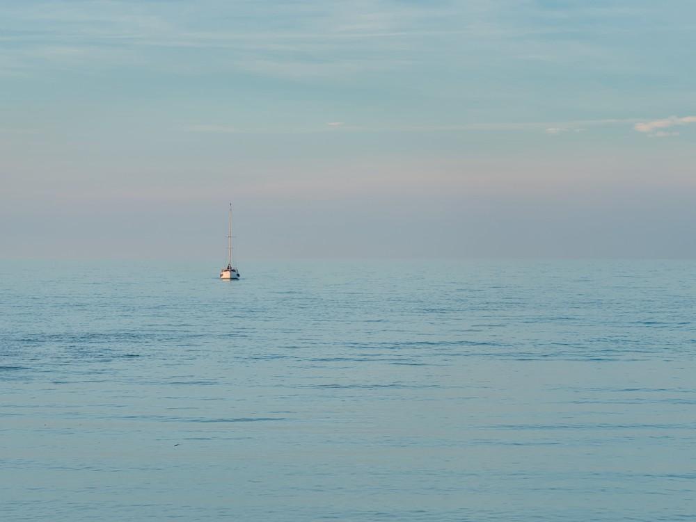 Returning boat
