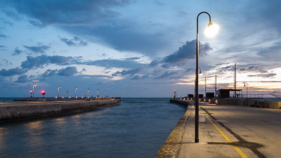 Senigallia harbor at dawn
