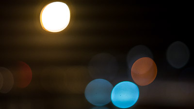 Out of focus stree lights