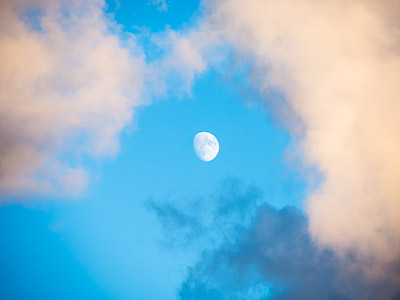 Cloudscape with the moon