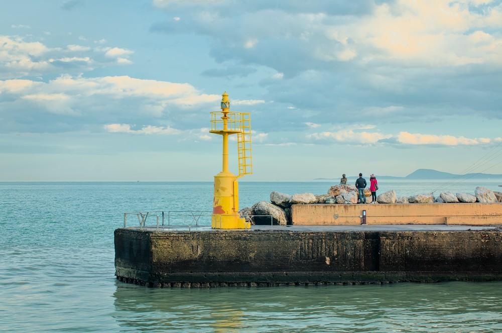 Yellow lighthouse