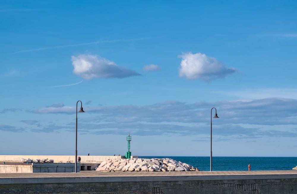 Twin clouds on Senigallia harbor