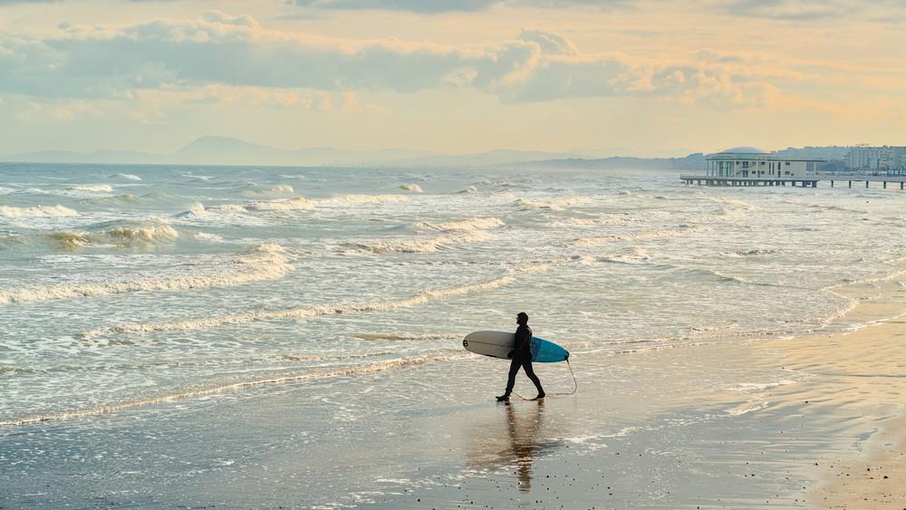 Surfer on the beach