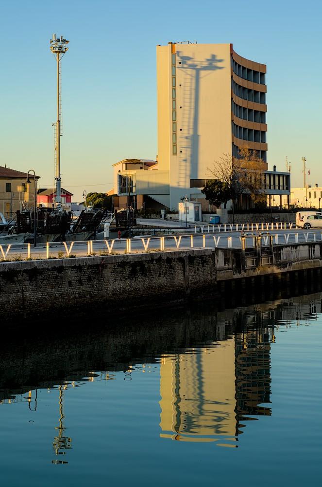 Senigallia harbor entrance