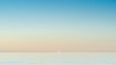 Seascape with sailboat