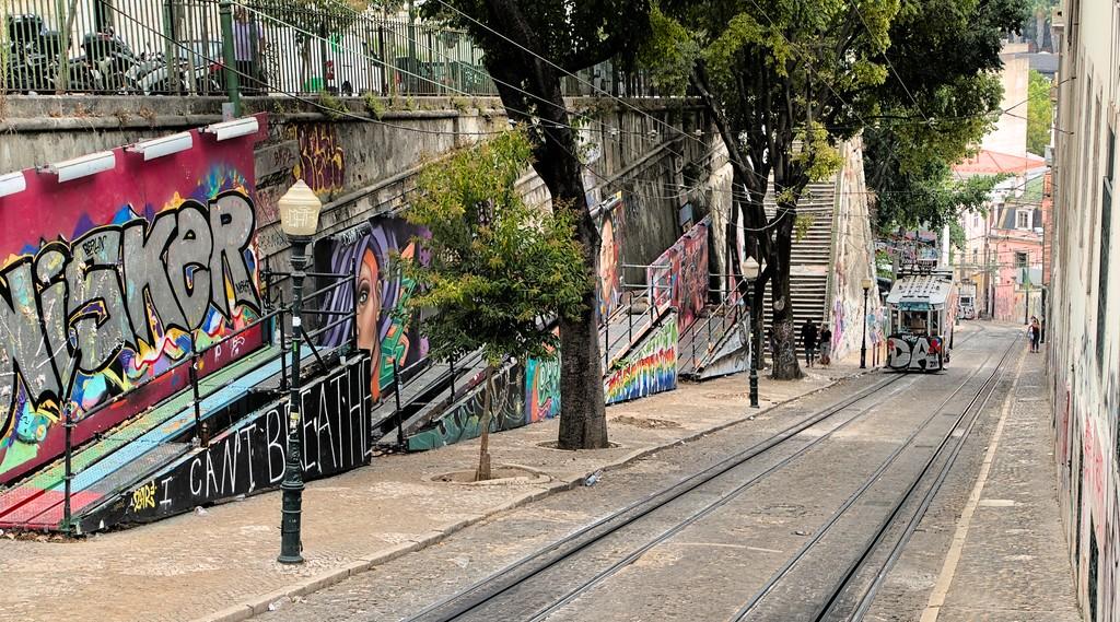 Ascensor da Glória, Lisbon, Portugal